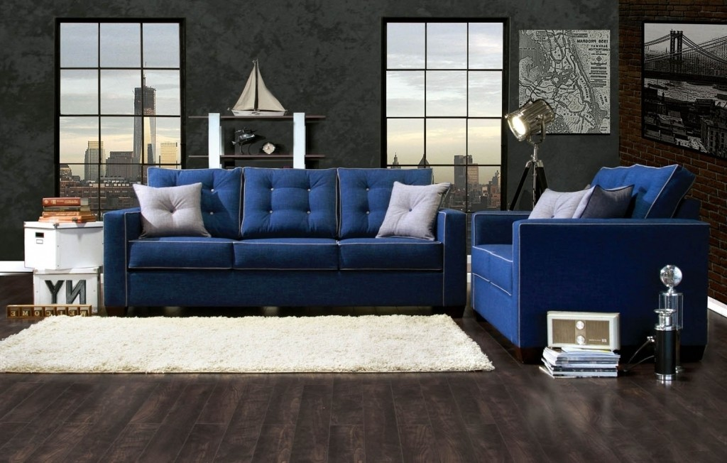 Blue Sofa Set Living Room 2017 Sofa Design throughout Navy Blue Living Room Set - Papelariaaquarius
