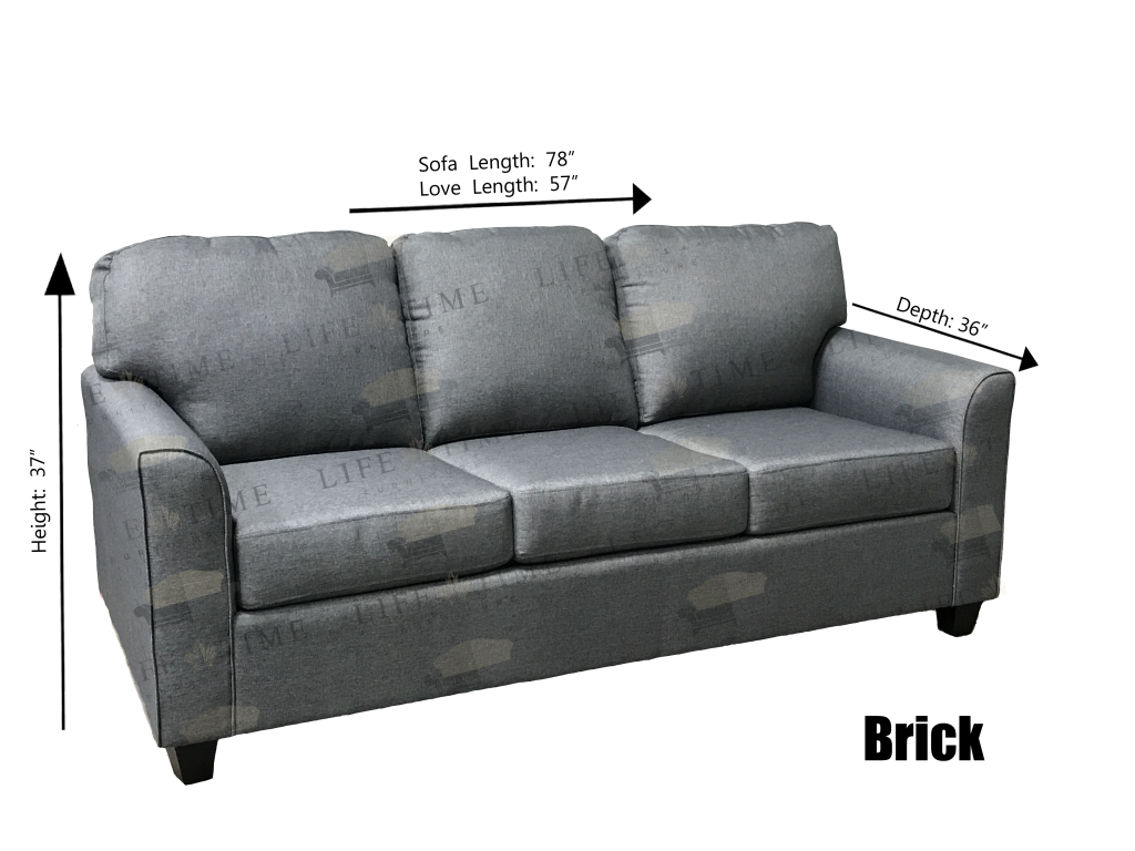 Brick Dimmensions Sofa